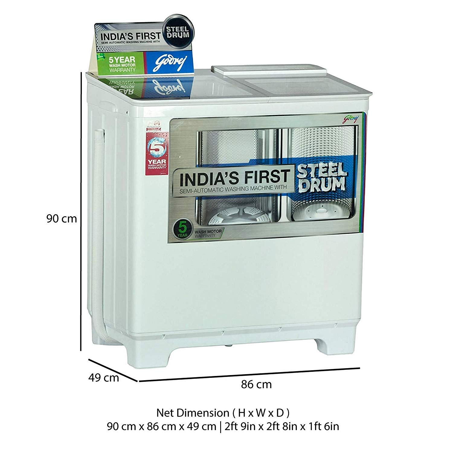 Godrej WS 800 PDS Semi-automatic Top-loading Washing ...