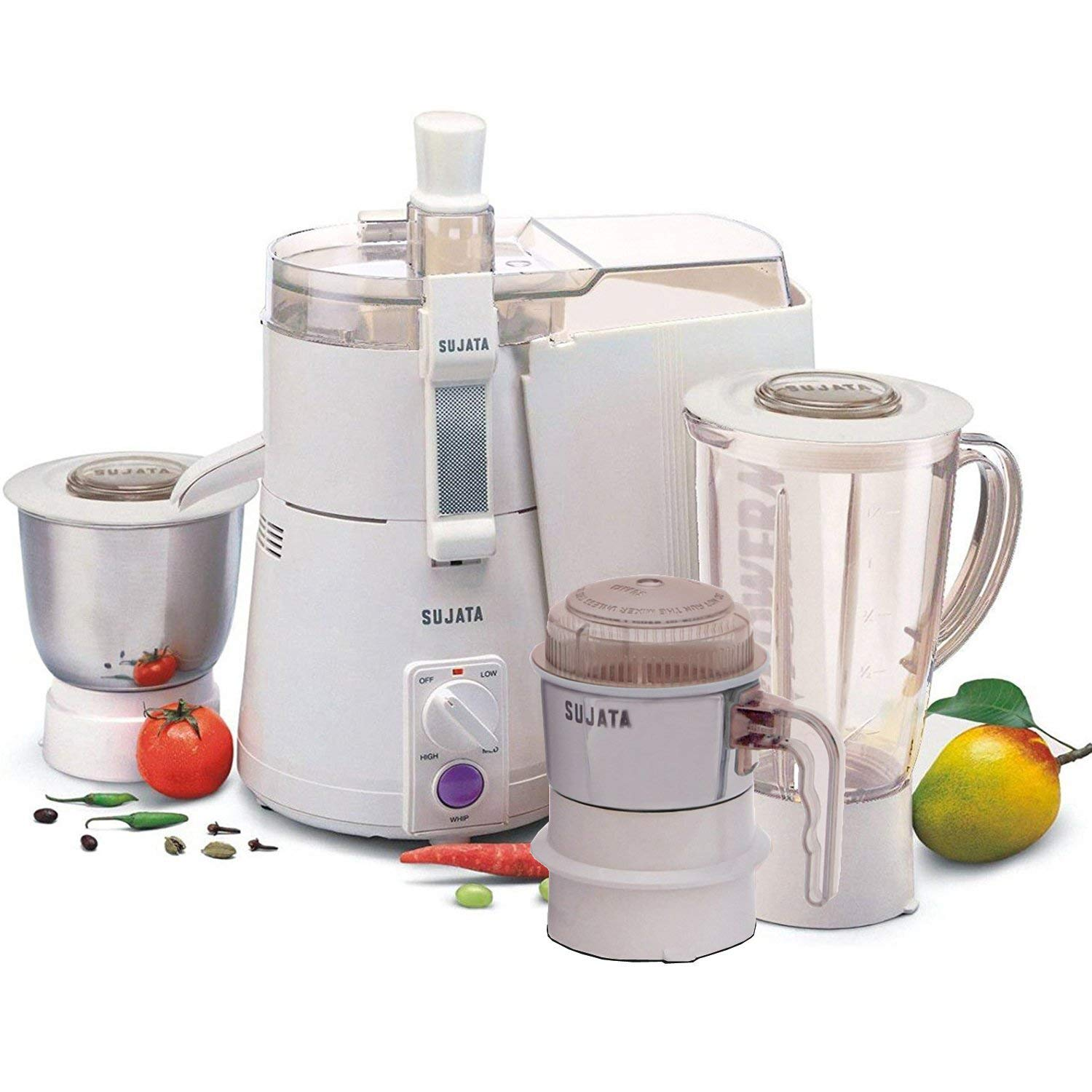 Sujata Powermatic Plus + CH 900-Watt Juicer Mixer