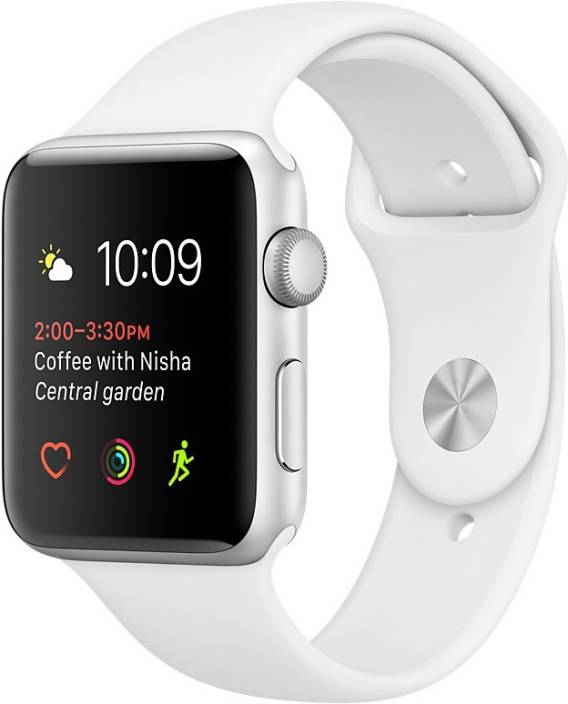 Apple Watch Series 1 - 42 mm Silver Aluminium Case with White Sport Band