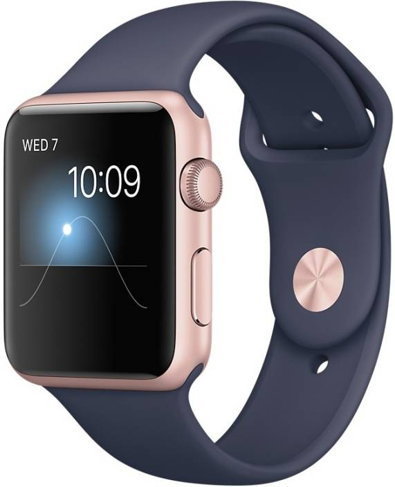Apple Watch Series 2 - 42 mm Rose Gold Case with Midnight Blue Sports Band