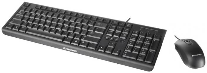 Lenovo KM4802 USB 2.0 Keyboard and Mouse Combo