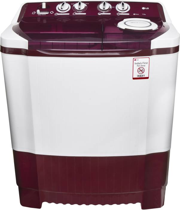 LG 7.5 kg Semi Automatic Top Load Washing Machine White, Maroon