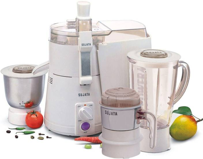 SUJATA POWERMATIC PLUS WITH CHUTNEY JAR WATT- 900 W Juicer Mixer Grinder