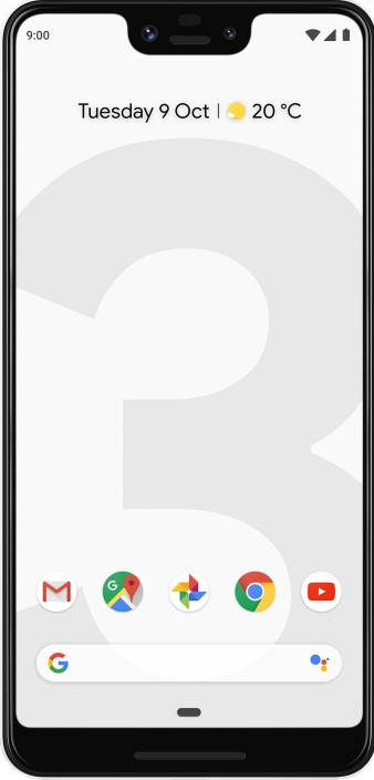 Google Pixel 3 XL (Clearly White, 64 GB)