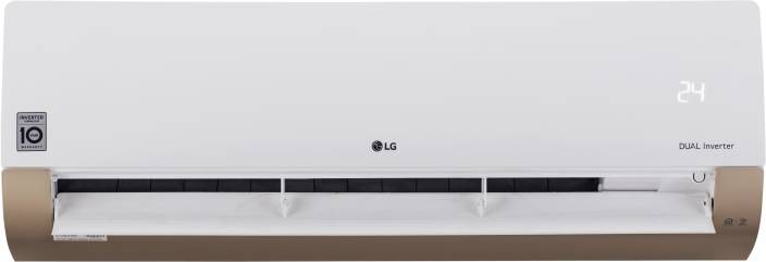 LG 1.0 Ton 3 Star Split Dual Inverter AC with Wi-fi Connect - White, Gold