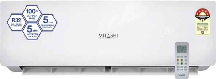 Mitashi 1.0 Ton 5 Star Split Inverter AC - White