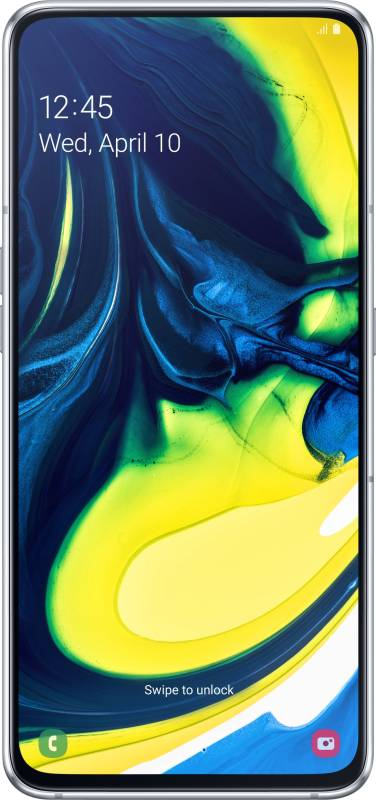 Samsung Galaxy A80 (Ghost White, 128 GB)