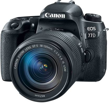 Canon EOS 77D DSLR Camera Body with Single Lens: EF-S18-135 IS USM (16 GB SD Card + Camera Bag)