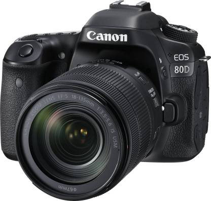 Canon EOS 80D DSLR Camera Body with Single Lens: EF-S 18-135 IS USM (16 GB SD Card)