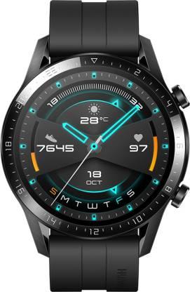 Huawei Watch GT 2 (46 mm) Smartwatch(Black Strap, Regular)